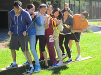 Picture of MMPA Students participating in group challenge