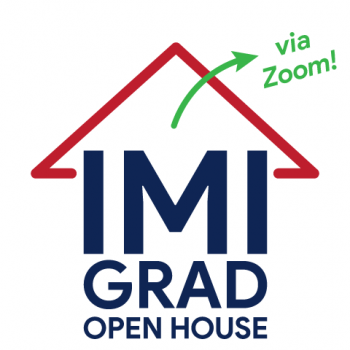 IMI Grad Open House - Saturday, November 28, 2020 via Zoom